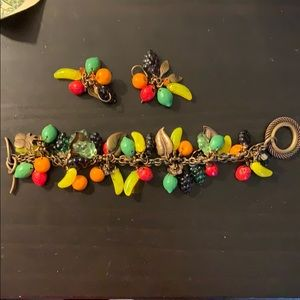 Fruit bracelet and earrings
